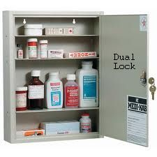 MEDI-KAB6 LKINS-STD DOUBLE LOCK MEDICAL CABINET