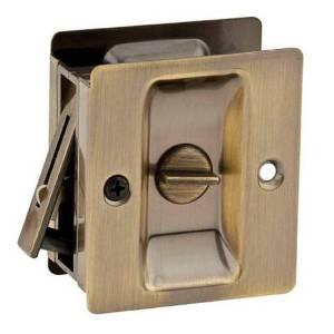 333-622 POCKET DR LOCK -PRIVACY - BLACK FINISH