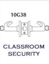 60-10G38-LL-26D LFIC CLASSROOM INTRUDER LEVER