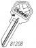 81208 ULTRAMAX KEY BLANK - 6 PIN