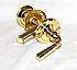 46501 STORM DOOR LOCK - POLISHED BRASS