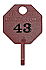 NPT2T 1-20 RED OCTAGON KEY TAG (D)