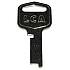 5LS KB FLAT STEEL FOR LOCKER LOCKS (T153)     (d)