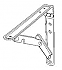 "1222 (11035) FOLDING SHELF BRACKET 12""X12"" 2/PK(d)"