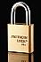 A5560 38386 PADLOCK 5PIN BRASS 1-3/4