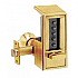 "6214-60-41 PUSHBUTTON LOCK 2 3/4"" (D) GOLD TONE"