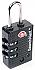 K7470 PADLOCK-SEARCH ALERT - TSA  APPROVED