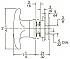 D5945R 26D KNOB LOCK (T-HANDLE)  (d)