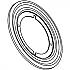 293-5 CP ROUND ROSETTE - ANTIQUE BRASS (d)